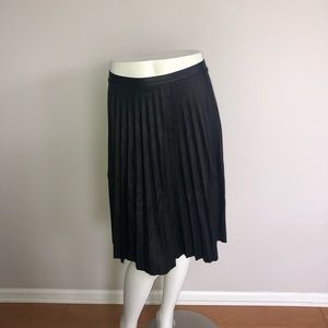 Charlotte Russe Black Faux Leather Pleated Skirt